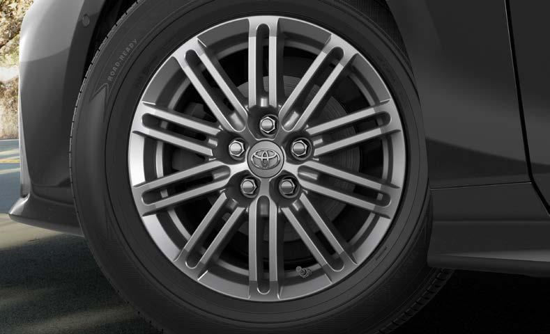 "EXTERIOR ACCESSORIES 15"" 10-Spoke Alloy Wheels Make them look twice when they see your Prius Prime with the"