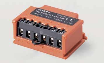 16I17 INTORQ I BFK468 spring-applied brake Half-wave bridge rectifier BEG-561-òòò-òòò Fastening options Permissible current load ambient temperature A C A For screw-on installation with metal surface