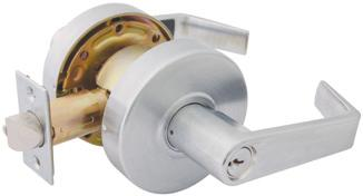 However, it does not retract the latch. This free-wheeling feature absorbs torque and can extend the life of a lever lock.