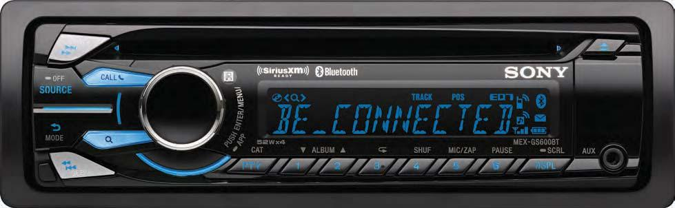 Brought to you by The All-New Sony Mex-GS600BT CD Receiver With Exclusive App Remote Technology Bluetooth is built-in to the new MEX-GS600BT