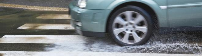 Hydroplaning 3 Main Factors Vehicle speed. As speed increases, wet traction is considerably reduced.