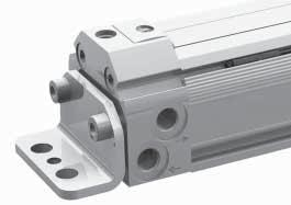 Series RTC Rodless Cylinders AVENTICS 47 Rodless cylinders Accessories Series RTC Accessories End cover mounting, MF1 for Series RTC-BV, RTC-CG, RTC-HD W7 W6 W4 W3