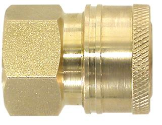 STRAIGHT THROUGH STYLE Brass couplers have brass bodies and brass valves, 8 steel locking balls, Buna-N seal, and stainless steel springs