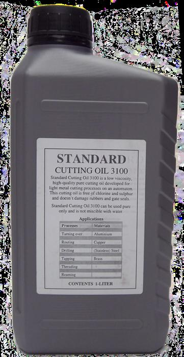 OILS, Standard Cutting Oil 3100 WORKSHOP Standard Cutting Oil 3100 is a low viscosity, high quality pure cutting oil developed for light metal cutting processes.