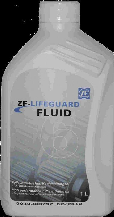 Please note that this fluid is not suitable for ZF six speed units which require LifeguardFluid6 or LifeguardFluid6 Plus. 1 Litre Bottle,... Our Part No. OIL.50 20 Litre Cannister,... Our Part No. OIL.51 209 Litre Barrel,.