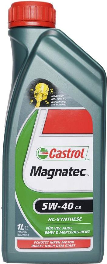 OILS, CASTROL Castrol Magnatec 5W-40 C3 Engine Oil Choose Castrol Magnatec 5W-40 C3 and its intelligent molecules will protect your car s engine during the critical warm up stage when up to 75% of