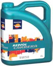 Further information at repsol.com CARRERA 5W50 API SM/CF Synthetic lubricant oil specifically developed to meet the needs of high-performance engines.