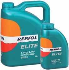 Further information at repsol.com ELITE COMMON RAIL 5W30 API SL/CF ACEA A3/B4 MB 229.5 BMW LL-01 VW 502.00/505.00 GM-OPEL GM LL-A-025/GM-LL-B-025 RENAULT RN0700 Long life synthetic lubricant oil.