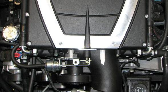Route the supplied MAF wire harness near the driver side of the throttle body. 190.