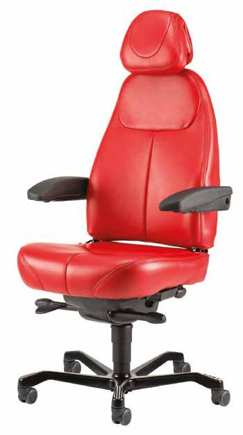 It is a medium height chair with adjustable backrest.