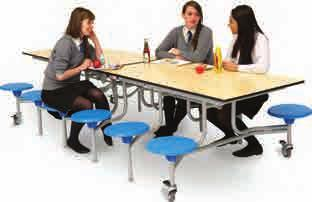 Canteen Tables & Benching Rectangular Mobile Folding Table Seating Units From 733.