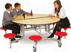 or 735mm high, (3280mm long tables only available in 650mm high) 330mm Diameter Seats Code Description & Dimensions (mm) Price