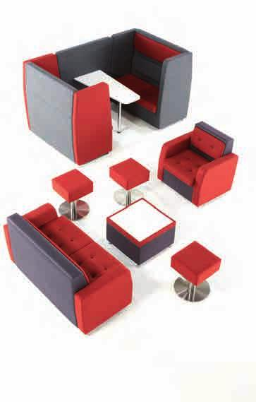 Breakout Furniture Project Pricing Available With its high rise back rest and media capabilities, the Cuddle range naturally creates privacy and acoustic comfort, and allows for creative