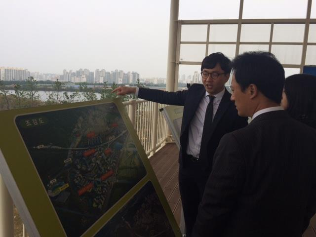 Smart City Initiatives Daegu Smart City Construction Site Commercial Service Korea officials visited Daegu on October 20, 2015, to collect