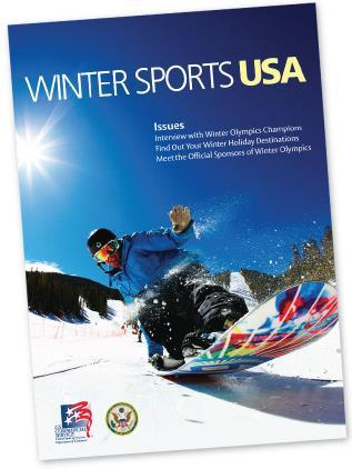 Winter Sports USA magazine Is to introduce U.S. Winter Sports related businesses in the Korean market through feature Articles, Advertisements, and a Company Directory Published in full color and in Korean-language for Korean readers.