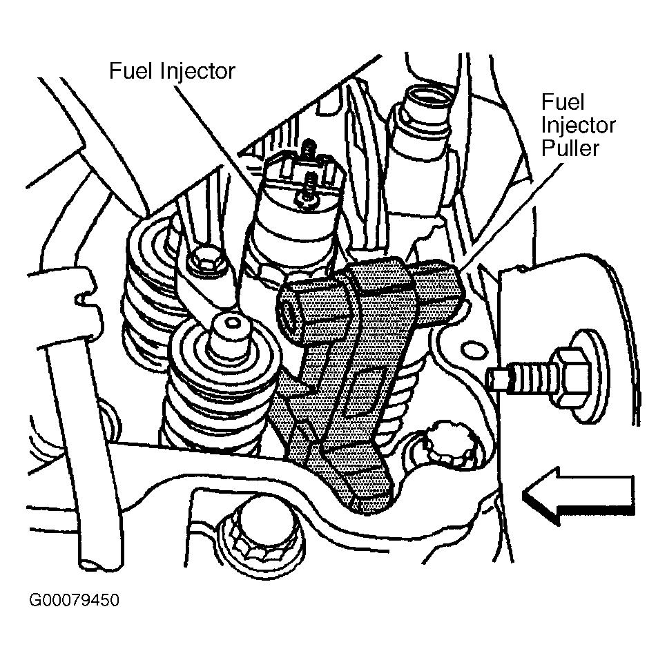 Page 22 of 41 Fig. 18: Removing Fuel Injector FUEL PRESSURE REGULATOR Removal & Installation 1. Remove the air intake pipe.