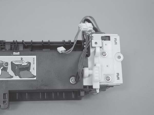 9. Duplex models only: Remove two screws (callout 7) and remove the duplex-gear assembly (callout 8).