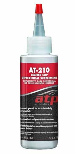 AT-210 Limited Slip Differential Supplement Premium limited slip differential additive specifically suited for the unique characteristics
