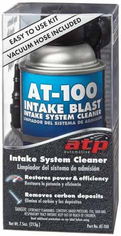 Intake System Cleaner AT-100 Intake Blast Easy to use, aerosol charged solution for top end engine cleaning.
