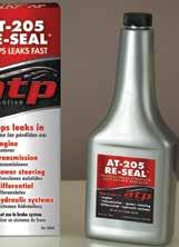 Does not contain petroleum distillates, will not over-swell or breakdown seals How it works: ATP-205 added to leaking system The formulation
