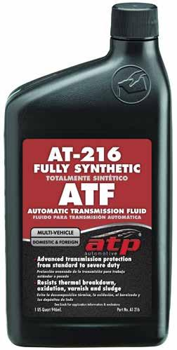 Functional Fluids AT-216 Synthetic Automatic Transmission Fluid Specifically designed to provide the best protection and performance for automatic transmissions.