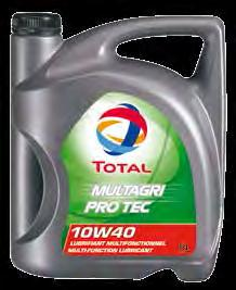82 - MULTAGRI PRO-TEC 10W-40 is intended for the lubrication of all mechanical parts in tractors, agricultural and related machinery in all seasons of the