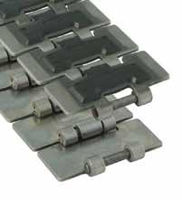 Magnetflex Single Hinge Max-Line RubberTop Pag. 104 Pag. 55, 56, 57, 58, 59 Standard length: 3.048 m - 10 feet (80 links). Sideflex radius min. 500 mm.