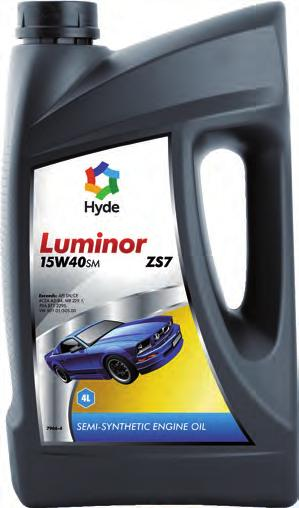 Luminor ZS7 15W40SM Semi Syntethic Passenger Car Motor Oil Hyde Luminor ZS7 15W40sm is a high quality semi synthetic engine oil suitable for gasoline-, LPG-, and diesel engines in modern passenger