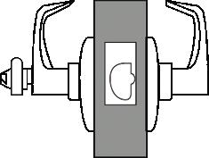operated by key in outside lever or rotating inside