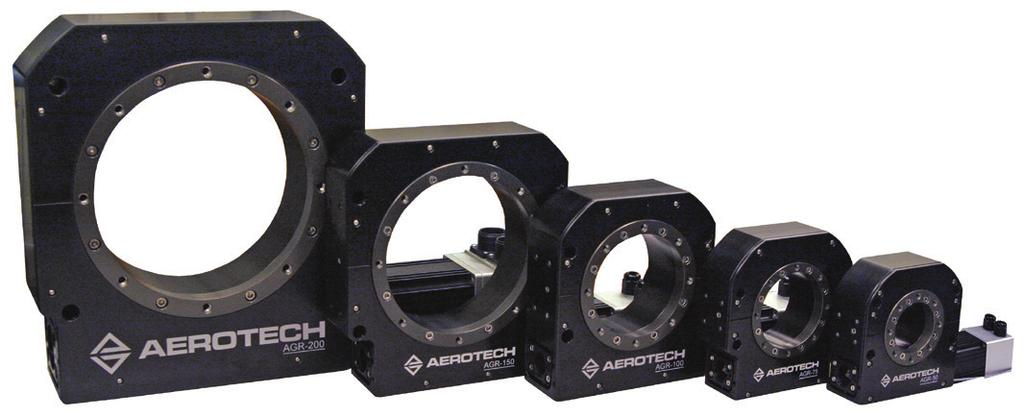 AGR Series Gear-Driven Rotary Stages Enhanced speed and load capacity Large aperture addresses a wide range of applications Continuous 360 degrees rotary positioning Rotary Stages AGR Series Direct
