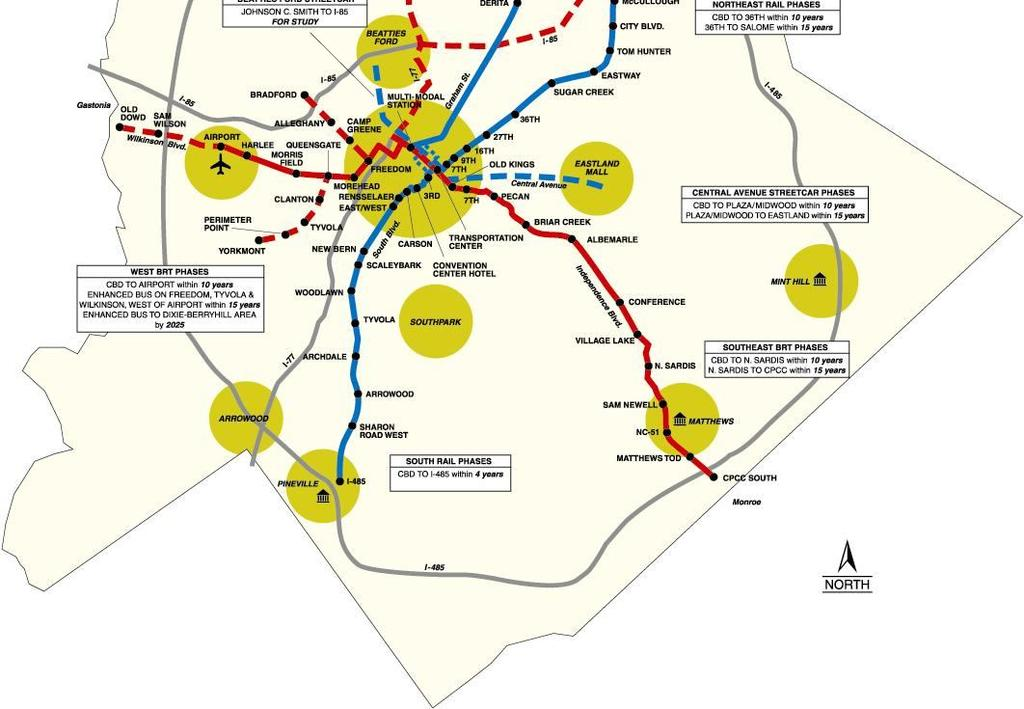 LRT 11 miles of streetcar 29 miles of commuter rail Extensive