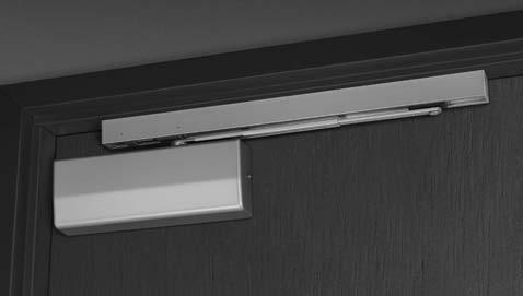 "the face of the door. Arm bracket is mounted on the door. Minimum 1-3/4"" (44mm) top jamb required."