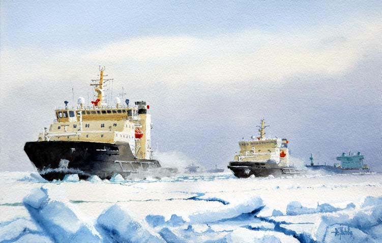 ARCTIC ICEBREAKERS / ICEGOING SHIPS BY HARRI ERONEN ILS OY MULTIPURPOSE ICEBREAKERS