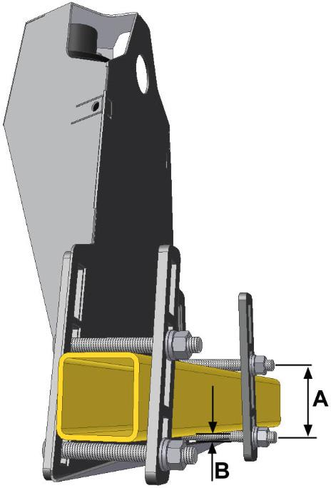 6.3 Low Profile Bracket Mounting Guidelines 1. Minimize the distance between the bolts to prevent bending the bracket and prevent the bracket from loosening over time. 2.