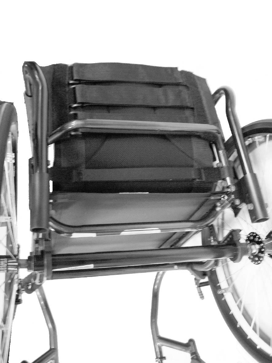 Operation 4.5 Adjustable Tension Back Upholstery ALWAYS perform these procedures in the presence of an assistant.