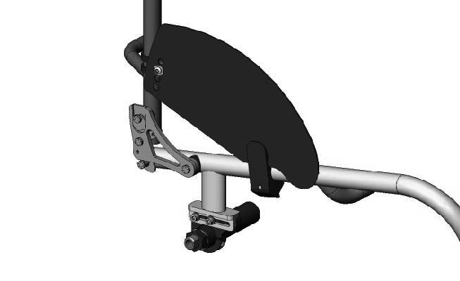 Crossfire 8 Options 8.1 Options Installing/Adjusting the Fold-in Sideguards Installing 1. Place the clamp A around the wheelchair frame B. 2.