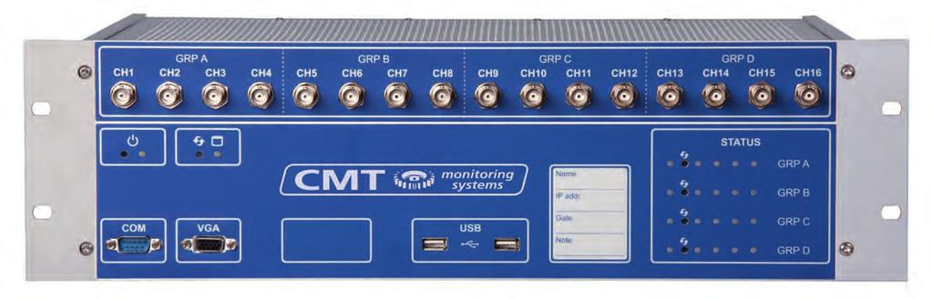 CMT Vibration Monitor The Vibration Monitor is a powerful online monitoring and diagnostics system Machinery Condition Monitoring It was designed to increase the reliability of strategic rotating