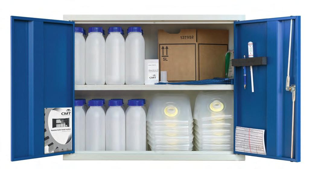 3. MARPOL Bunker Cabinet Sampling Solutions The CMT MARPOL Bunker Sample Storage Cabinet is a complete unit providing everything needed to comply with the IMO MARPOL regulations.