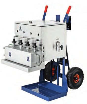 The Automatic Sampler is connected to the main bunker line by a flexible hose for the mobile solution or by pipe fittings for the permanent installed version.