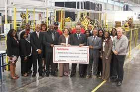 NISSAN For 15 years Nissan has, Nissan has remained committed to supporting Mississippi historically black colleges and universities (HBCUs).