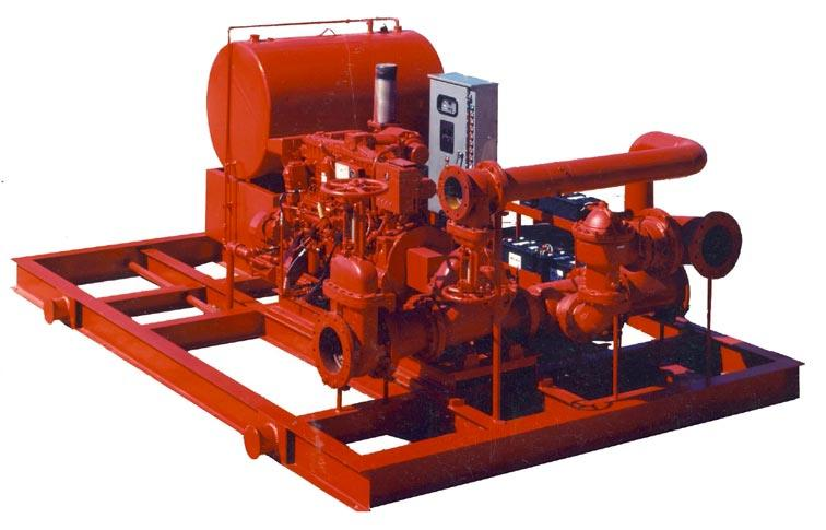 Vertical models for capacities to 5,000 gpm In-line models for capacities to 500 gpm End suction models for capacities to 1,500 gpm Drives: electric motor or diesel engine Basic units, packaged