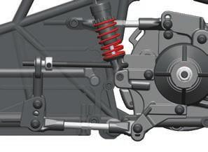For increased stability, add one- to two-degrees of toe-in to each front wheel. Use the turnbuckles to adjust the alignment.