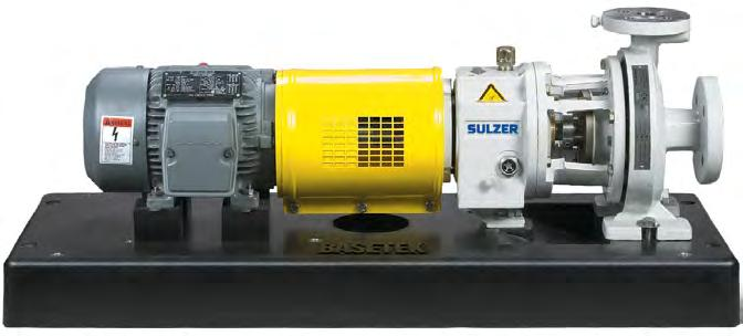 Baseplate Options Sulzer produces rigid baseplate designs that resist the distortion which can cause pump/motor misalignment.