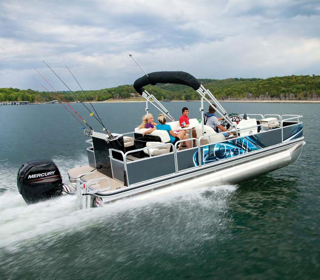 SF 234 Sport Fish Fishing Pontoons Optional wrap shown.
