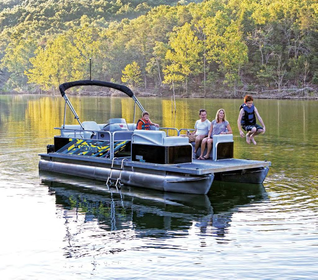 GS 200 Grand Sport Pontoons Boats shown may include optional features.