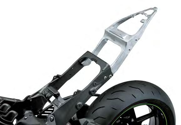 The new sub-frame is also very narrow, allowing the rear of the bike to be very compact and slim.