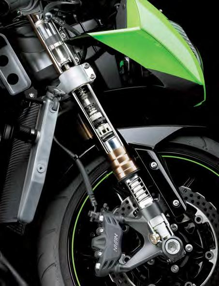 Suspension * The new BPF is one of the great contributing factors to the new Ninja ZX-6R s great composure under braking.
