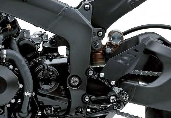 Revisions to the front engine mounts and head pipe offer a more direct feel from the front.
