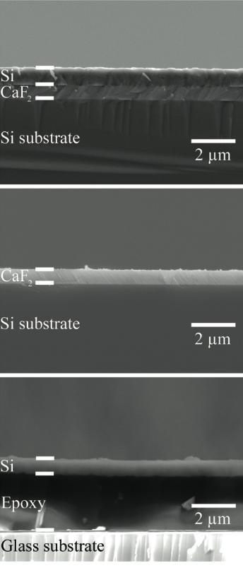 Delaminated Epitaxial Si Films