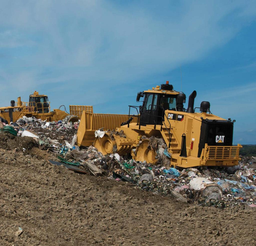 Cat Landfill Compactors are designed with durability built in, ensuring maximum availability through multiple life cycles.